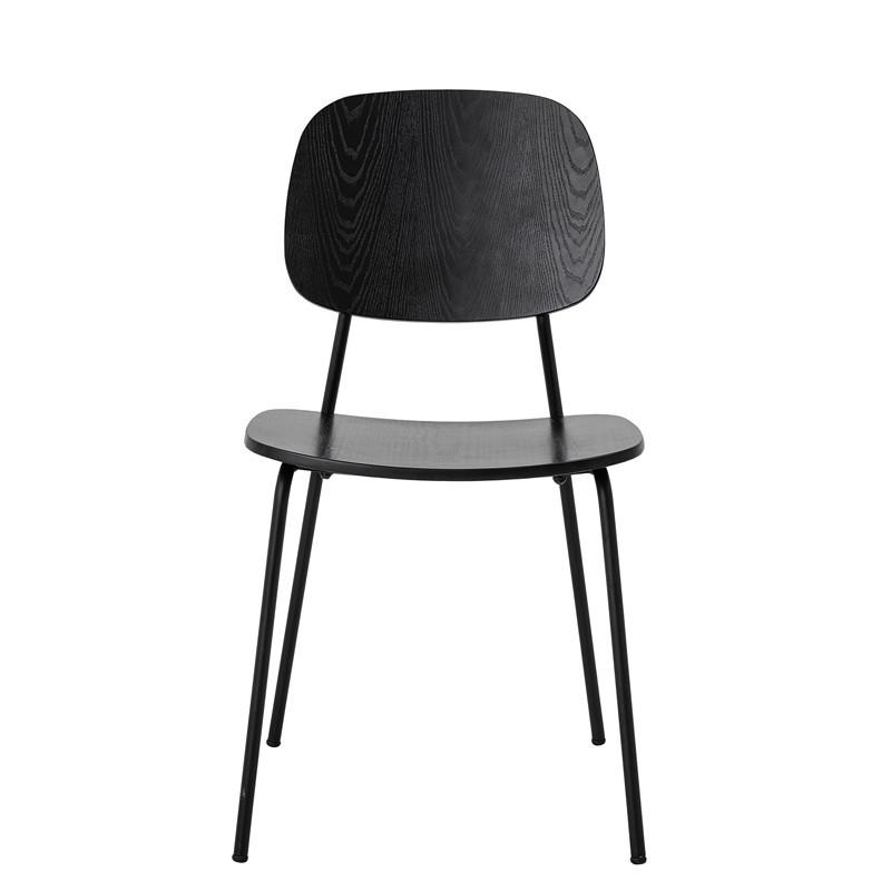 Chaise noire design vintage Bloomingville - Monza