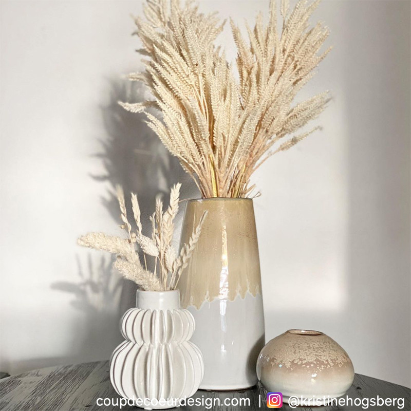 Vase blanc original design Bloomingville - Vala