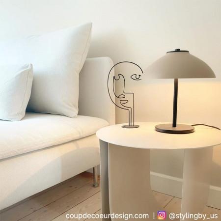 Bout de canapé blanc contemporain Bloomingville - Chey