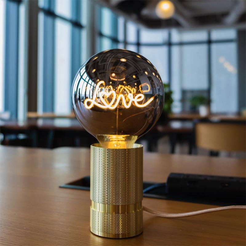Ampoule design fumé message - Love