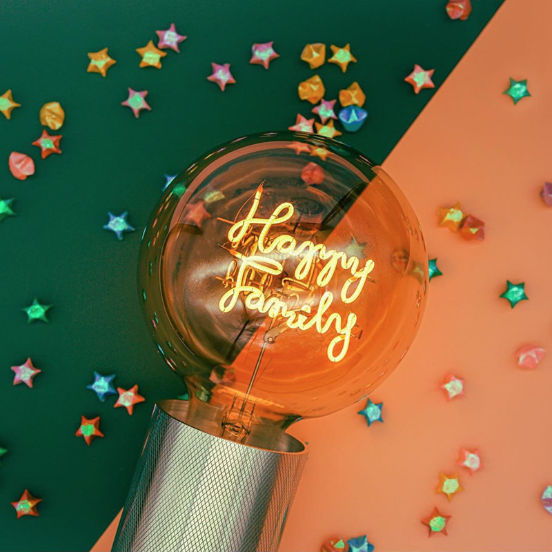 Ampoule déco led message Happy Family