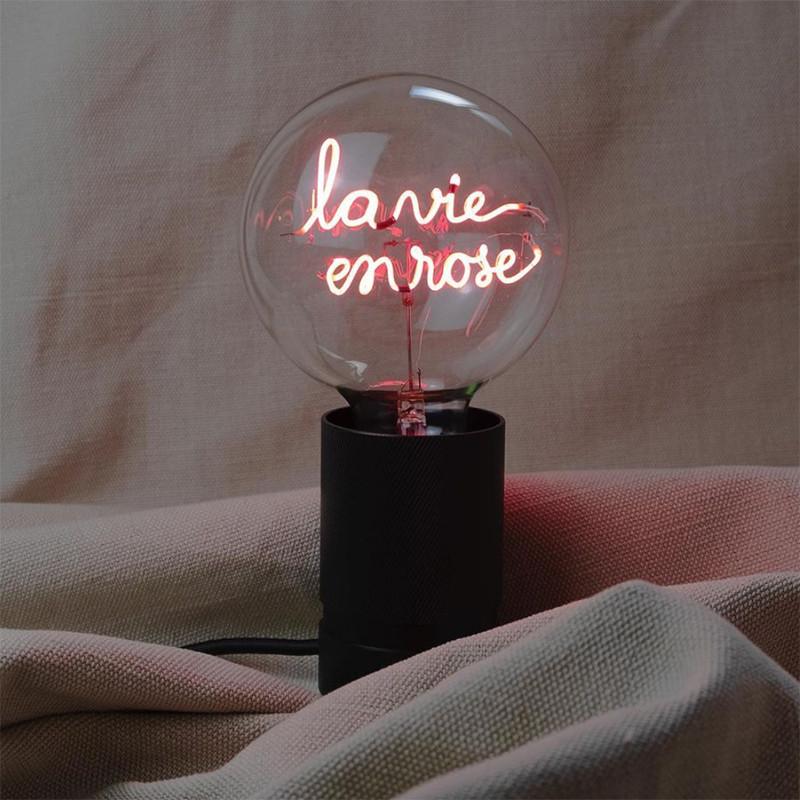 Ampoule led design déco message - La vie en rose