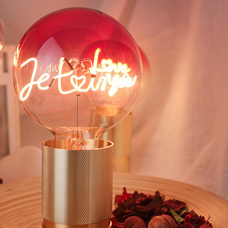 Ampoule message led design - Je t'aime