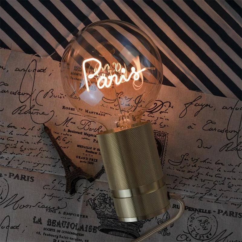 Ampoule décorative avec message - Paris