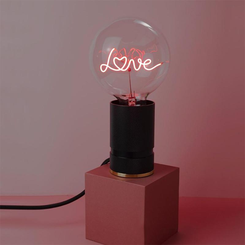 Ampoule design déco message rouge - Love