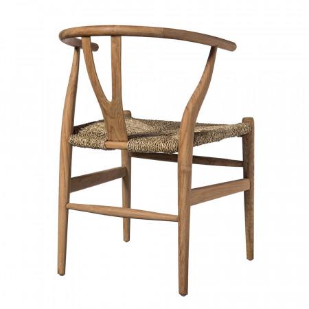 Chaise wishbone bois naturel - Weg