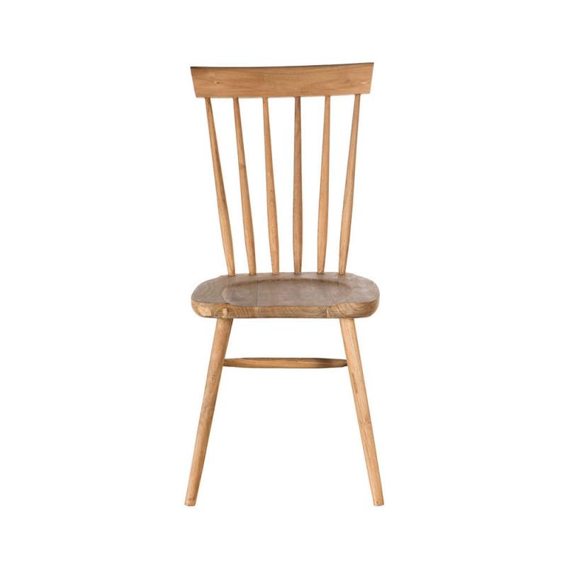 Chaise à barreaux en bois naturel baumann  - Jenna