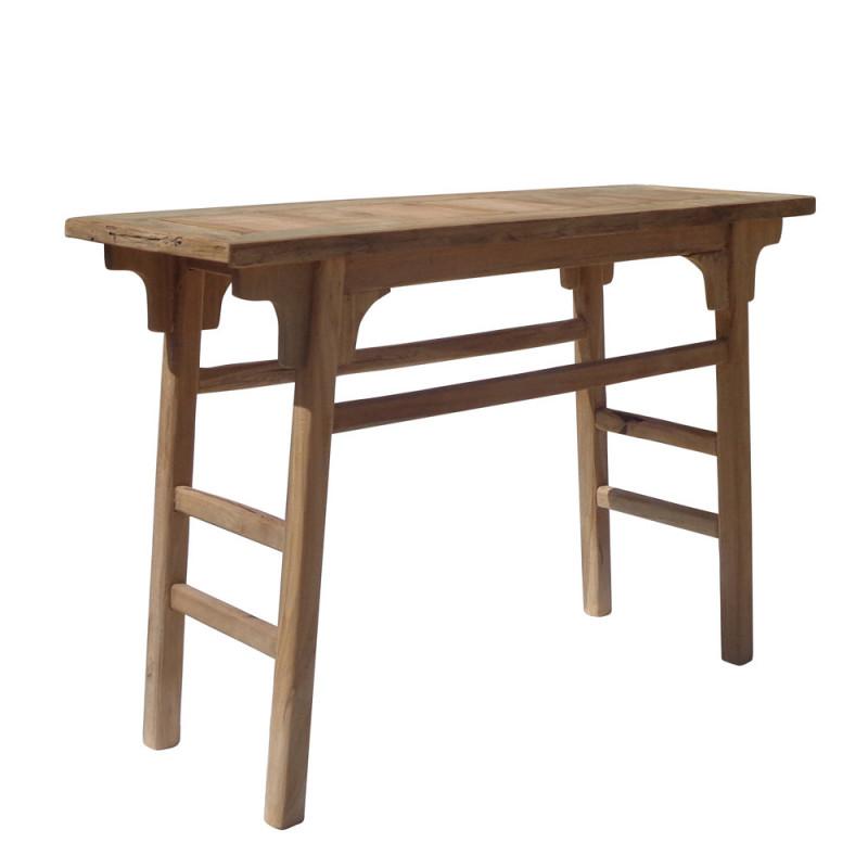 Meuble console d'entrée en bois de teck - Boli