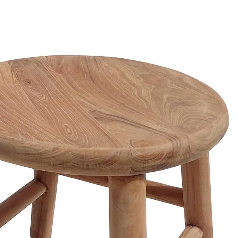 Tabouret marche pied en bois design - Camp