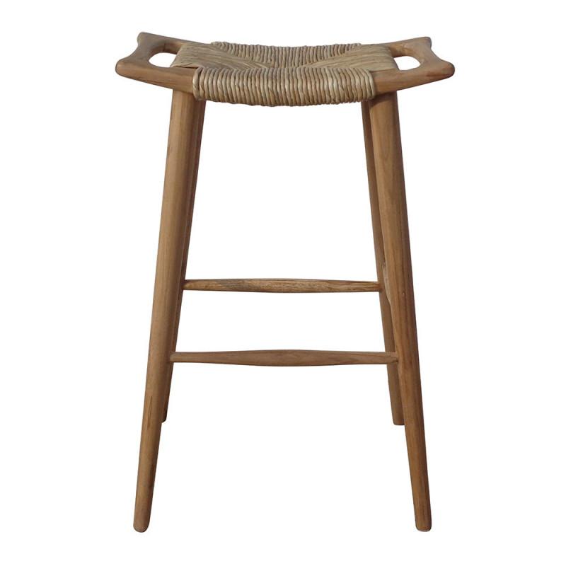 Tabouret de bar design en bois sans dossier - Creti
