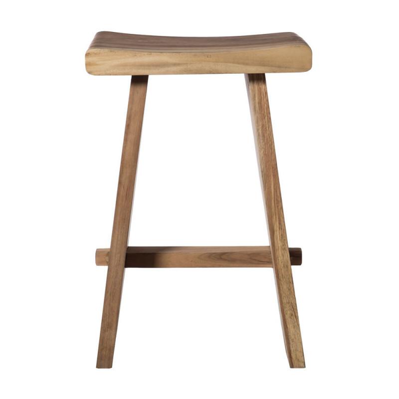 Tabouret de bar bois brut design sans dossier - Faro