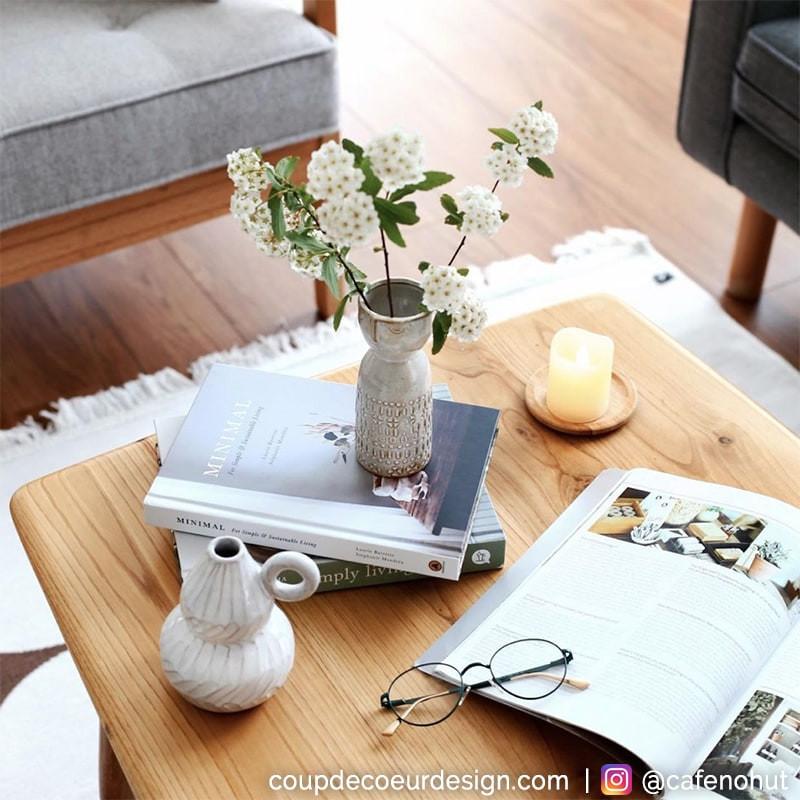 Vase déco blanc H 12,50cm Bloomingville