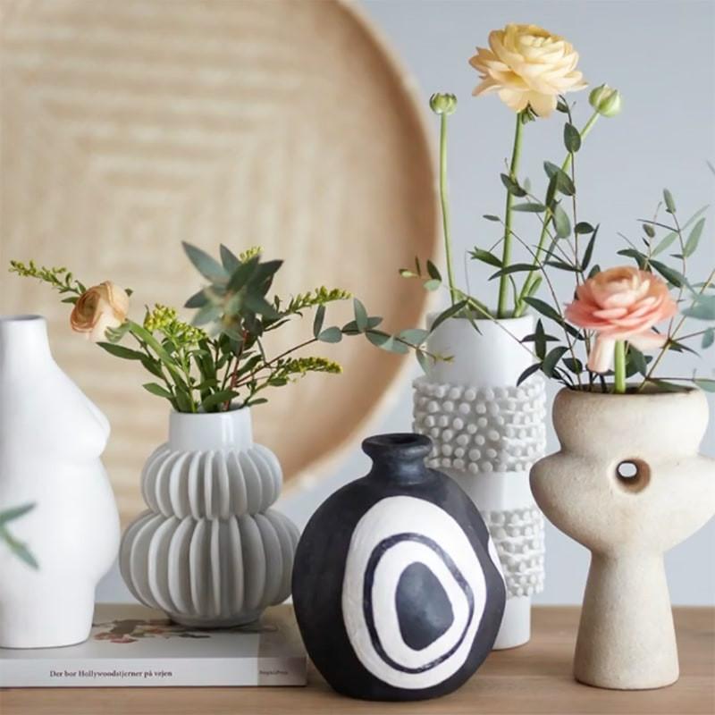 Vase blanc design Bloomingville - Vala