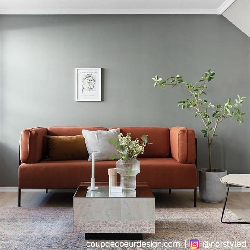 Canapé orange design Hubsch - Monaco