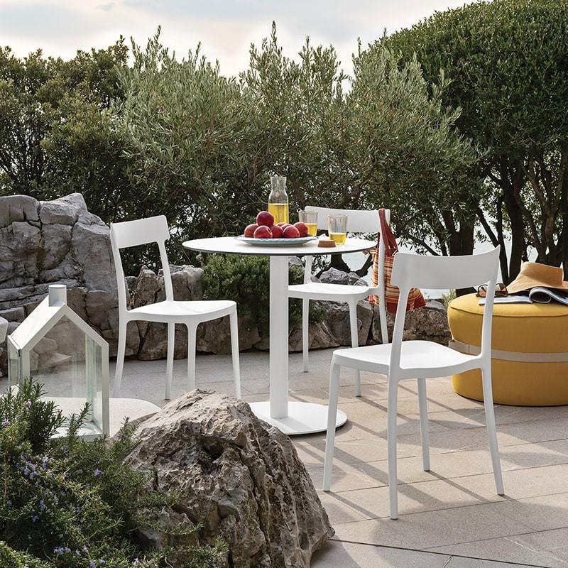 Chaise de jardin blanche Connubia - Argo