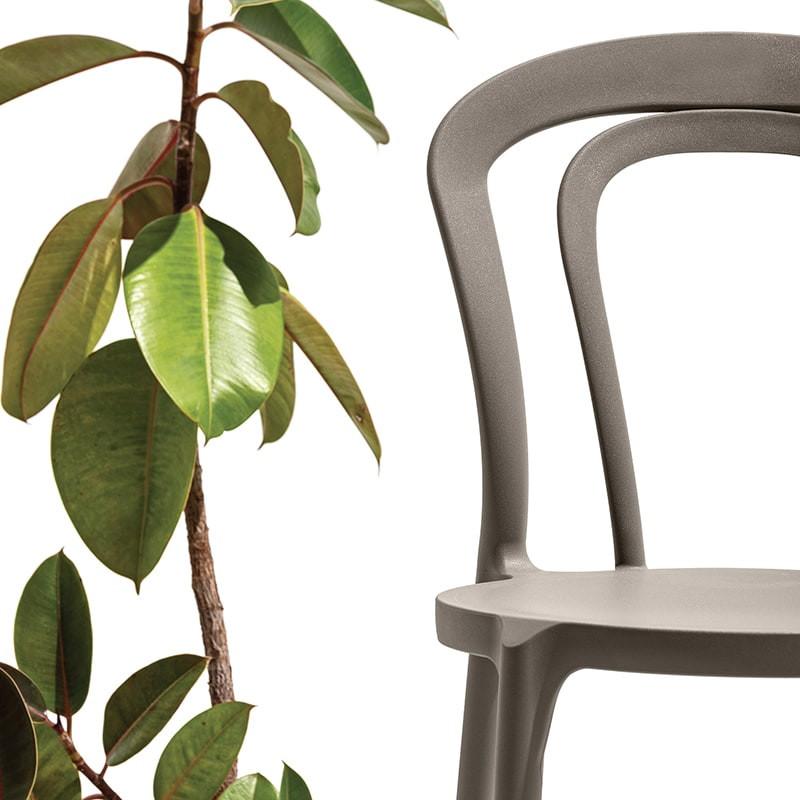 Chaise de cuisine taupe Connubia - Caffè