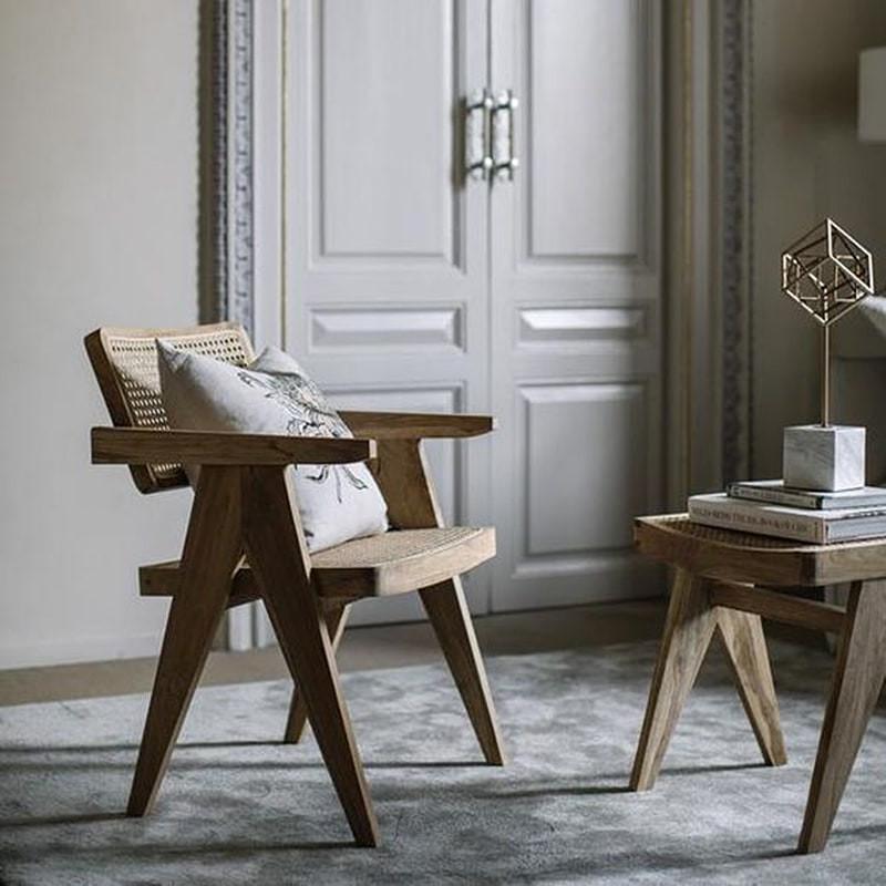 Chaise en cannage design lounge - Desy