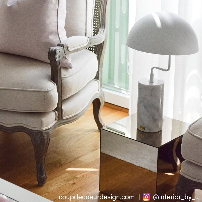 Lampe blanche design Hubsch - Lam