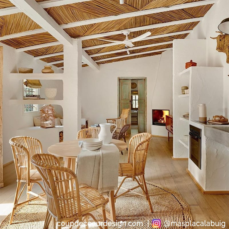 Chaise rotin et bambou naturel - Valio