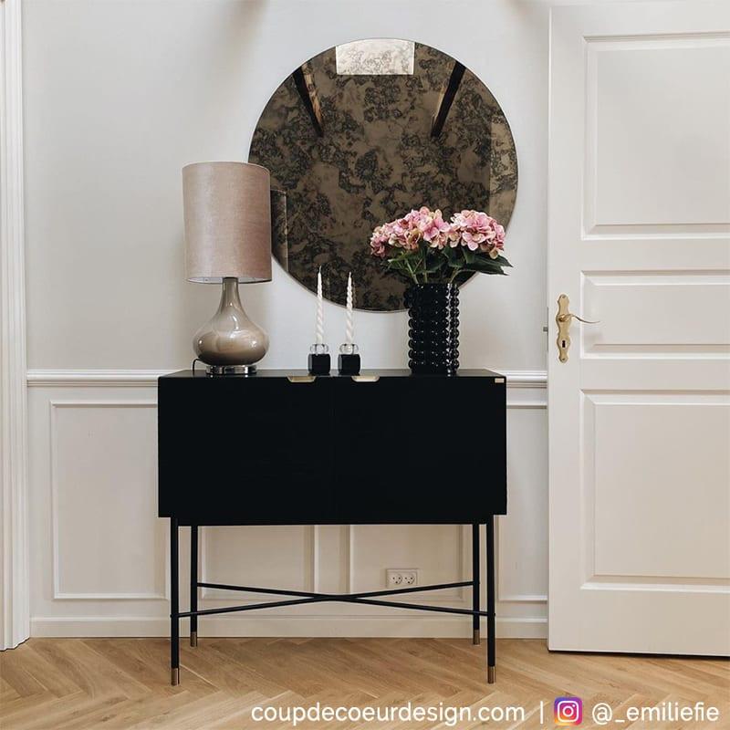 Petit meuble d´entrée noir design - Chani
