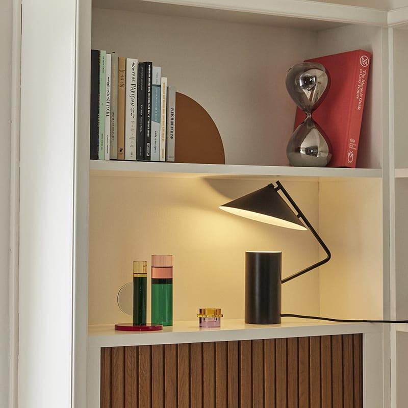 Lampe à poser design noire Hubsch - Any