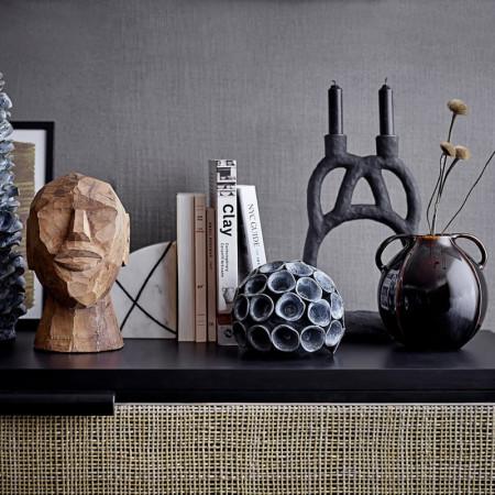 Bougeoir noir design haut - Ramina