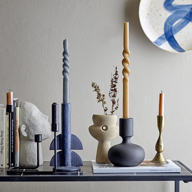 Bougeoir noir design en bois - Gravers