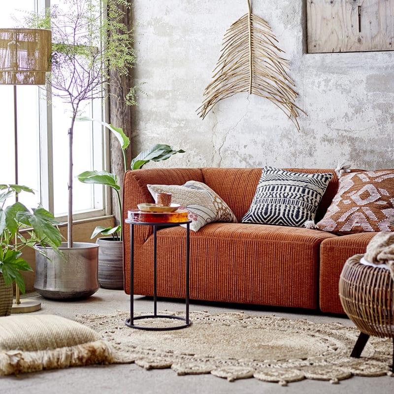 Canapé 3 places orange Bloomingville - Petra