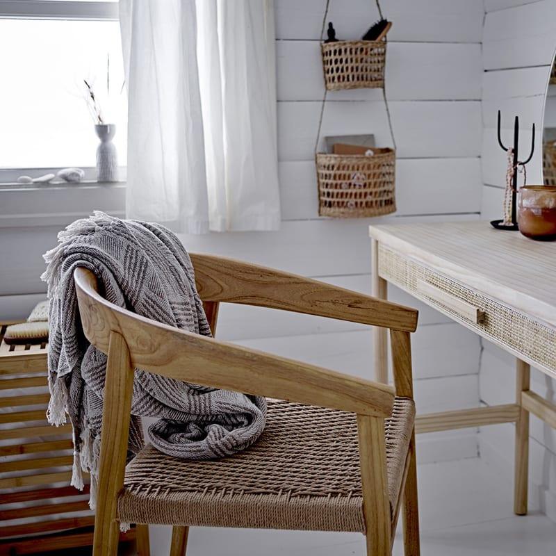 Chaise bois design assise cordes tressées - Vitus