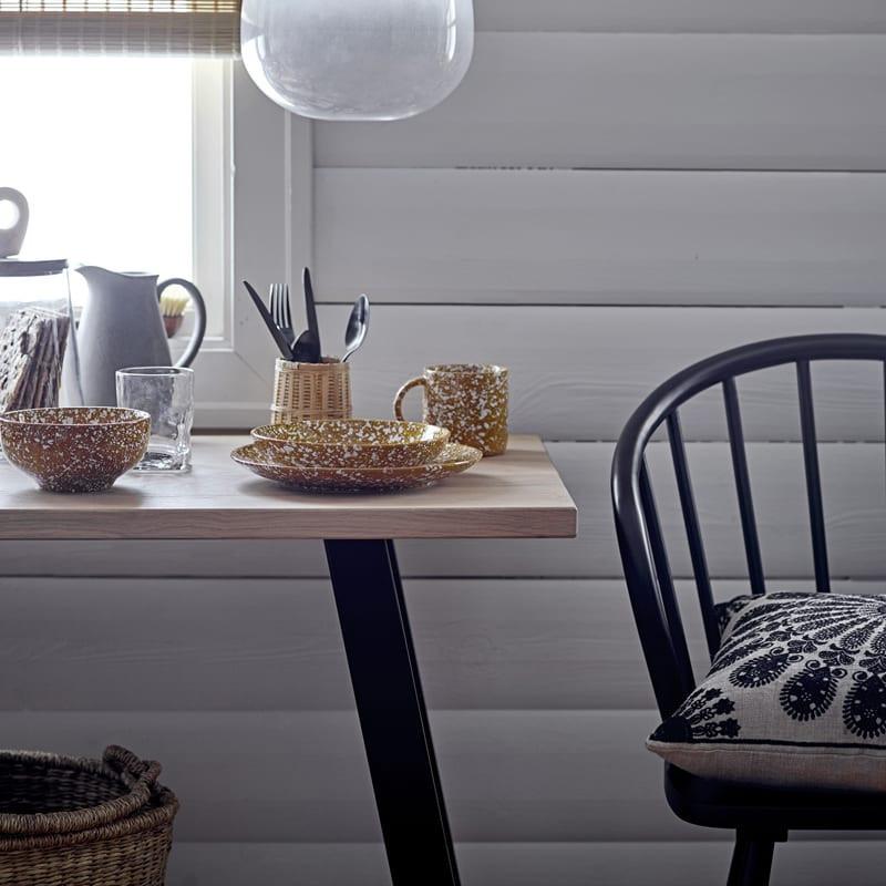 Chaise noir à barreaux design - Olin