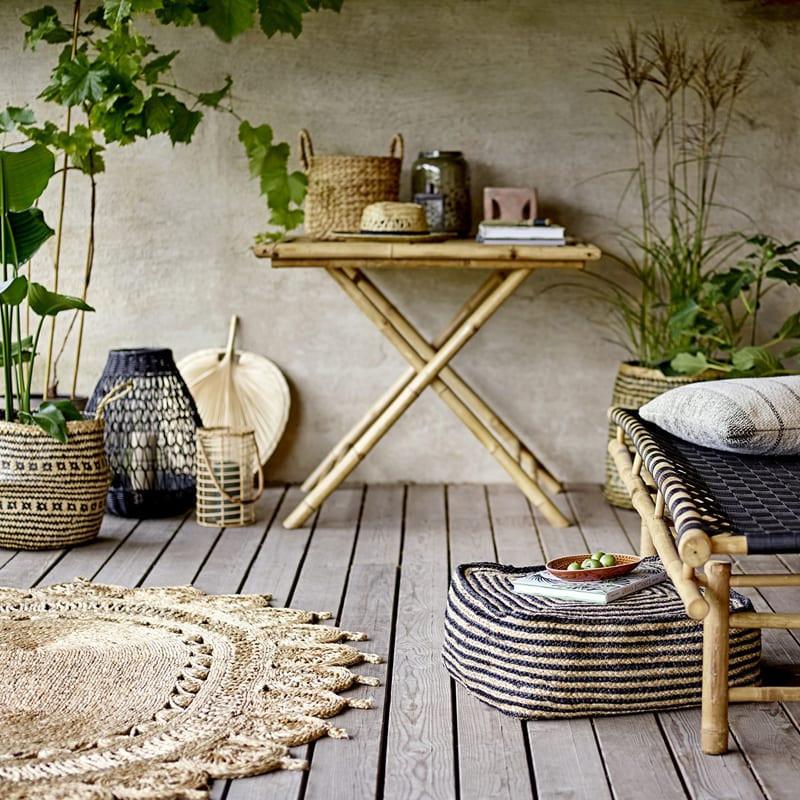 Petite table extérieur pliante en bambou - Sunri