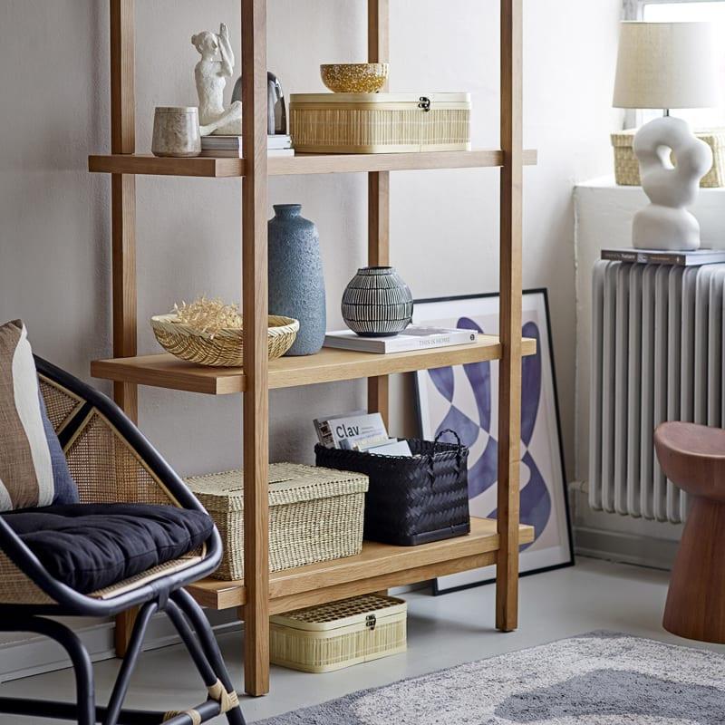 Tabouret design en bois foncé - Luc