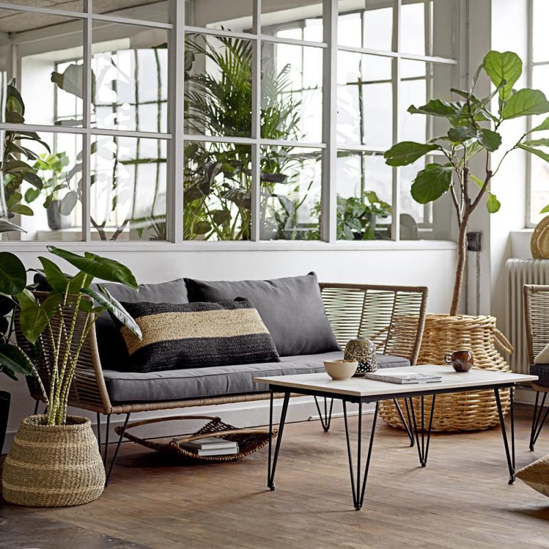 Canapé de jardin 2 places design Bloomingville - Forest