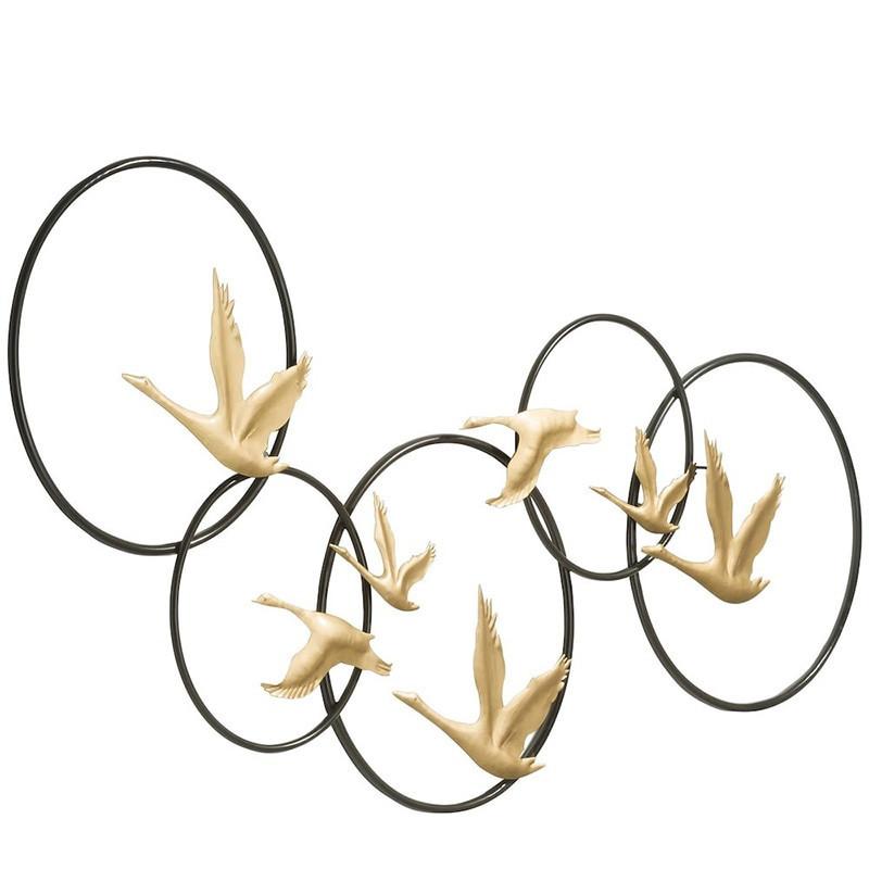 Décoration murale 3D roiseaux dorés - Stork