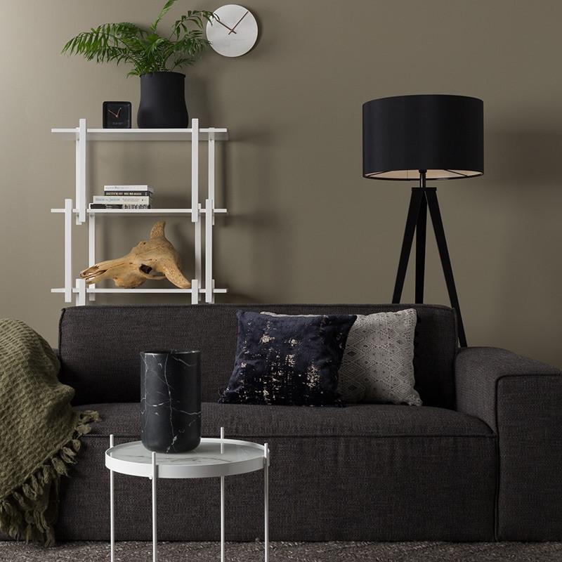 Canapé 3 places en tissu gris anthracite contemporain - Bor