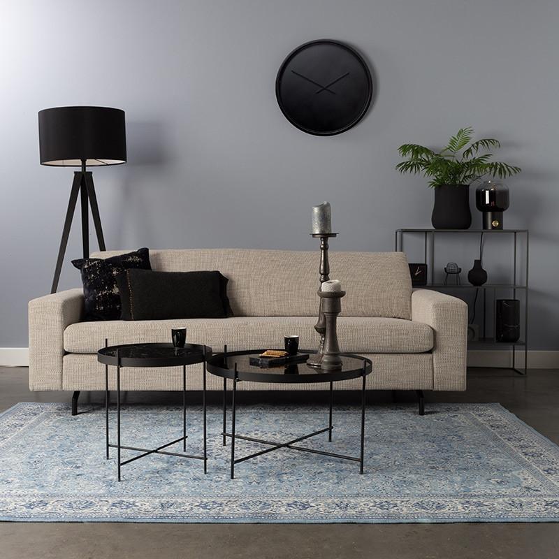 Canapé droit tissu beige confortable - Jean
