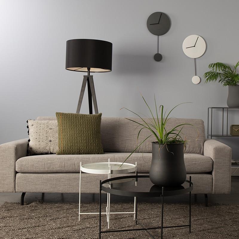 Canapé droit tissu gris clair confortable - Jean