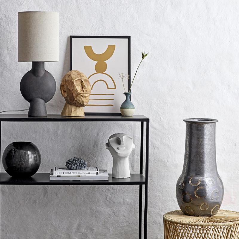Lampe terre cuite marron design - Lavand