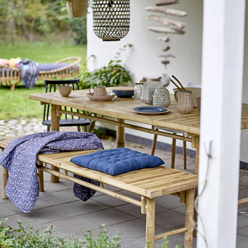 Table de jardin en bois naturel de bambou Bloomingville - Sunri