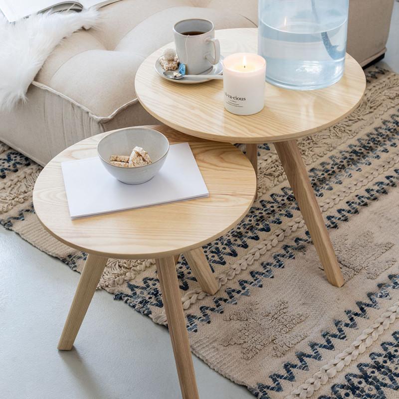 Tables gigognes bois clair scandinave - Karl