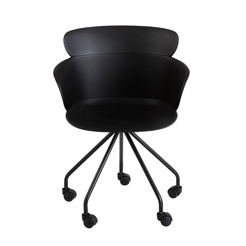 Chaise de bureau noir design - Jina