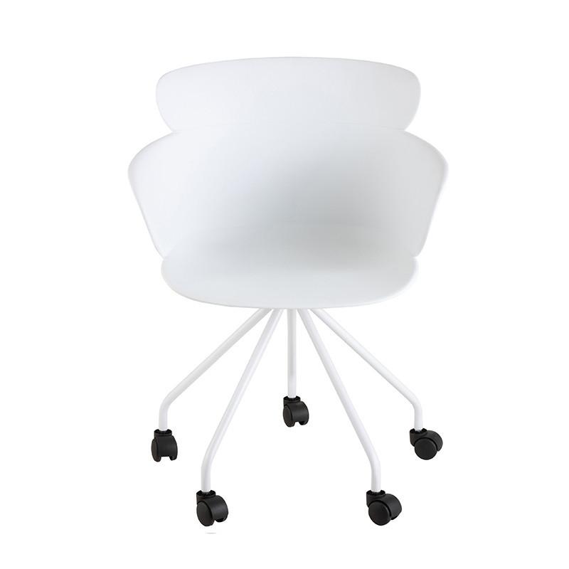 Chaise de bureau blanche design - Jina