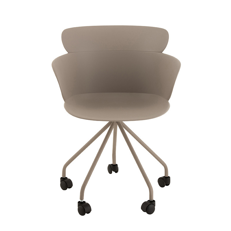 Chaise de bureau design taupe - Jina