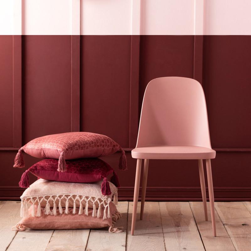 Chaise de cuisine rose dossier haut - Rosa