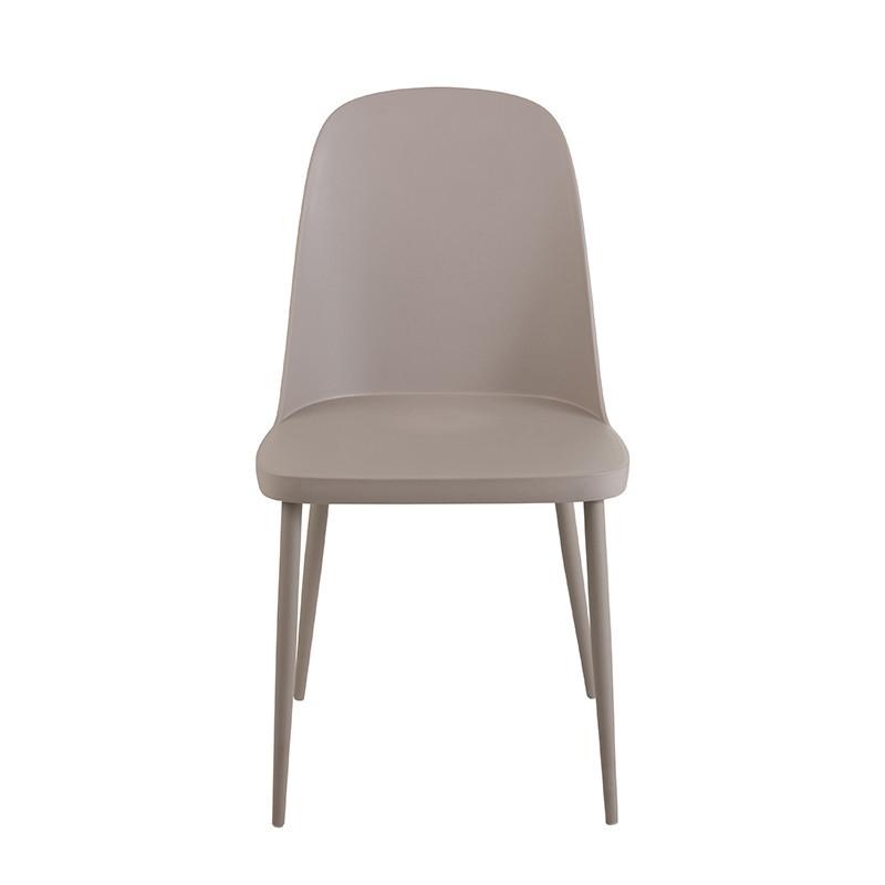 Chaise de cuisine grise dossier haut - Rosa